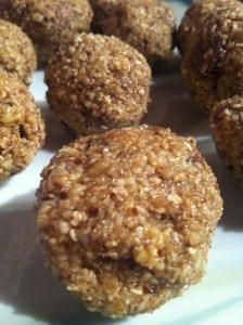 Raw Cookie Dough Bites - Delicious taste like baklava meets cookie dough. Super easy to make!!!!