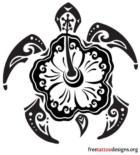Hawaiian Tribal Turtle Tattoos