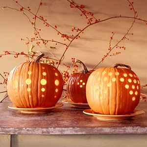 Cut-out pumpkins