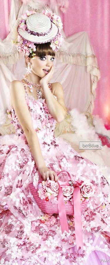 Peachy Girl Pink Wedding Dress
