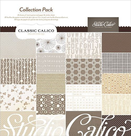 Classic Calico Vol 3 is such an excellent base for any kit! #StudioCalicoPinToWin