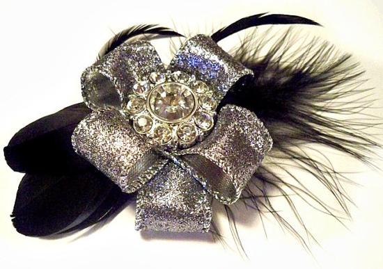 Silver Bow Hair Clip