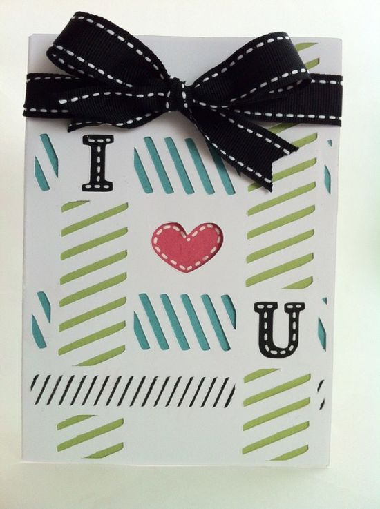 Courtney Lane Designs: I love you! card made using the Simple cards cartridge!