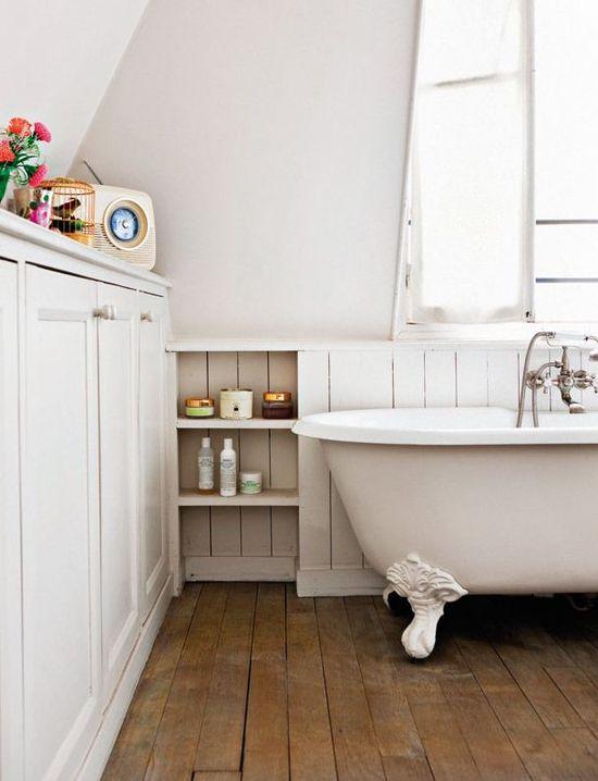 Claw foot tub bathroom.