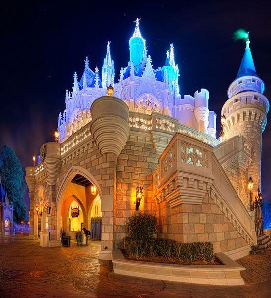Cinderella's Castle at an interesting angle