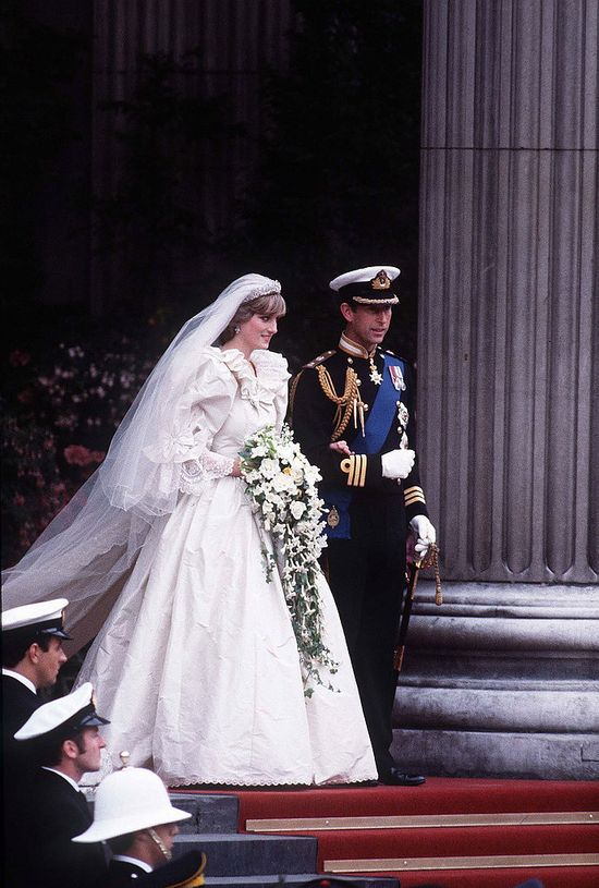 Princess Diana: still classic, still stunning, still taking away our breath. Look at those cascading orchids. – Celebrity Wedding Bouquets