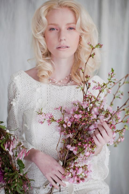 Cherry blossom as a bouquet - pretty idea.. ?????? ??????????? ?? weddywood.ru