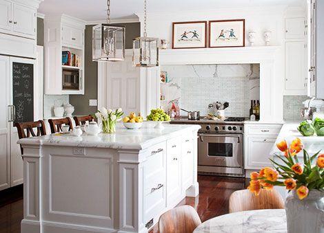 White elegant kitchen