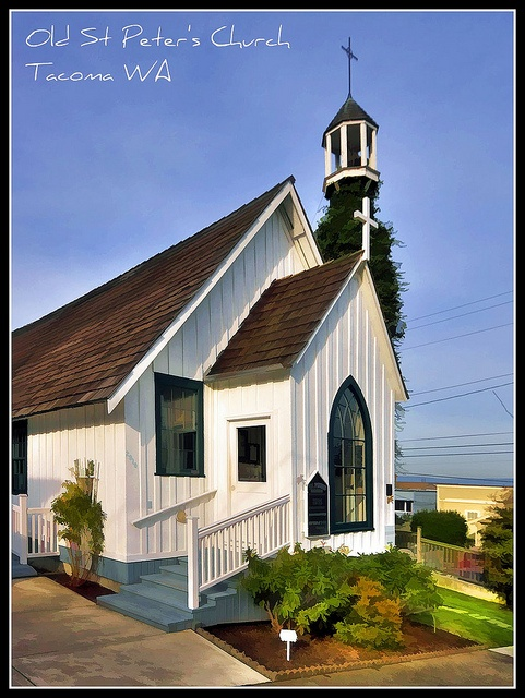 St Peter's Church is the Oldest Church In Tacoma WA circa 1873 by Michael D Martin, via Flickr