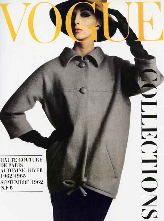 Vogue Paris, September 1962. Wilhelmina in YSL. Photo: Irving Penn.
