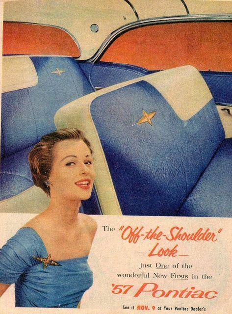 1957 Off the Shoulder Look Pontiac
