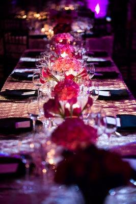 {Wedding Reception} Glowing Tablescape