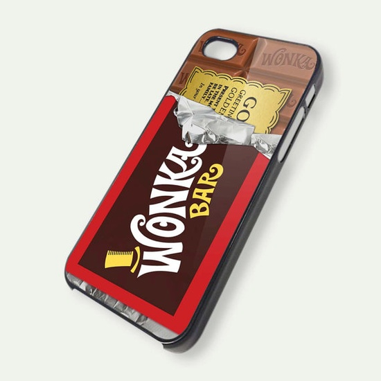 Wonka Chocolate Bar Wrapper iPhone 5 Case iPhone 4 by casecrib, $14.99