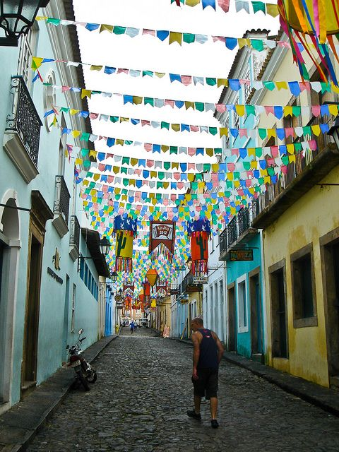 Old town of Salvador, Bahia, Brazil