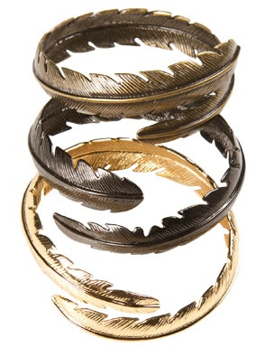Cool feather bangles.