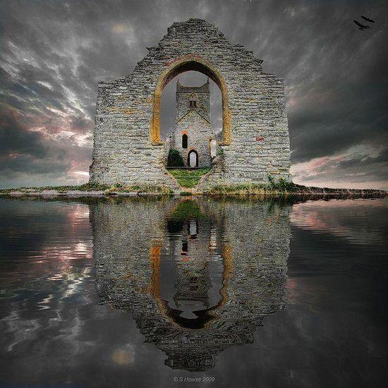 Castle ruins in Scotland