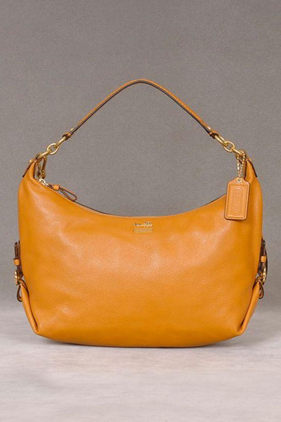 Coach Handbag In Saffron.