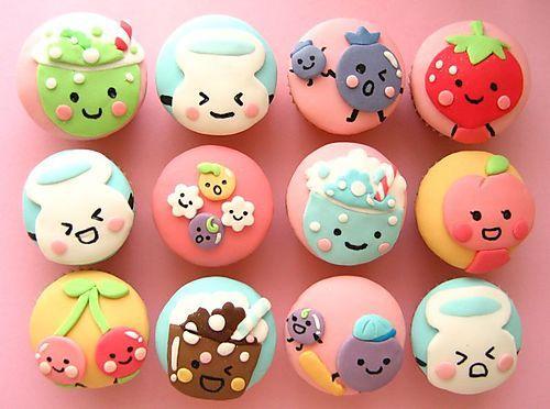 Sweet kawaii cupcakes..