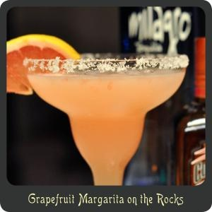 Grapefruit Margarita on the Rocks