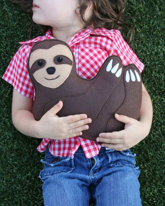 Rainforest Critter Sloth with heart Eco Friendly by SavageSeeds