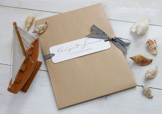 Modern Chevron Wedding Invitations by Meticulous Ink