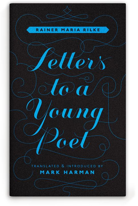Letters to a Young Poet #Book #Cover #Typography #Type #Lettering #Design