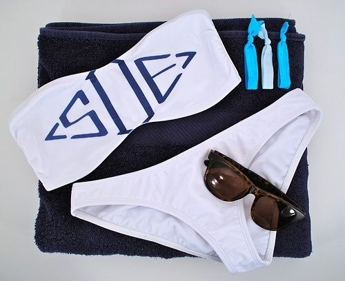 Monogrammed bikini