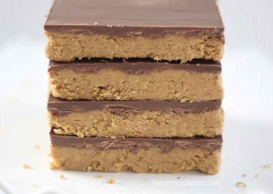 Reeses peanut butter no-bake bars I Heart Nap Time