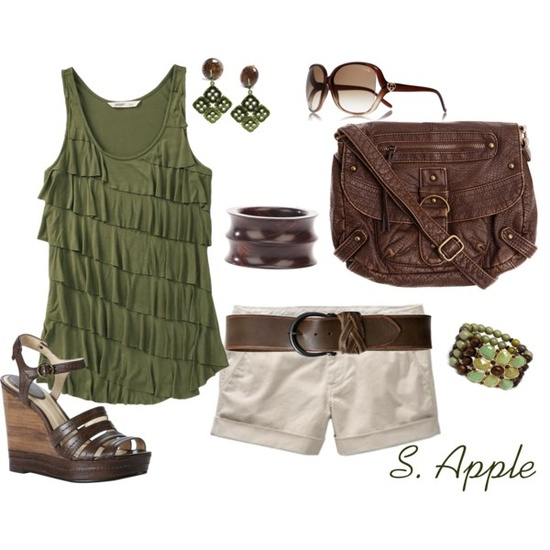 Green & brown summer outfit