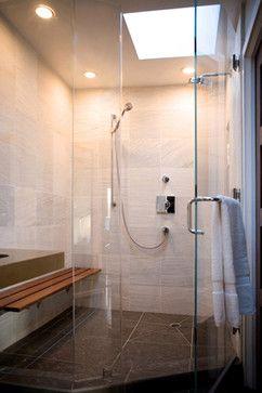 Olson Design & Construction - modern - bathroom - san francisco - Rise Construction - dark floor with light walls