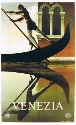 Vintage Travel Poster - Italy - Venice