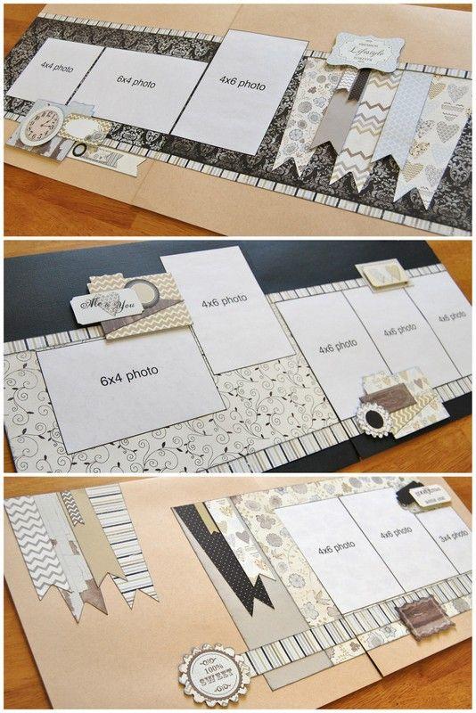 "November ""Super-Saver"" scrapbook sketch layouts by Debbie Sanders for Scrapbook Generation"