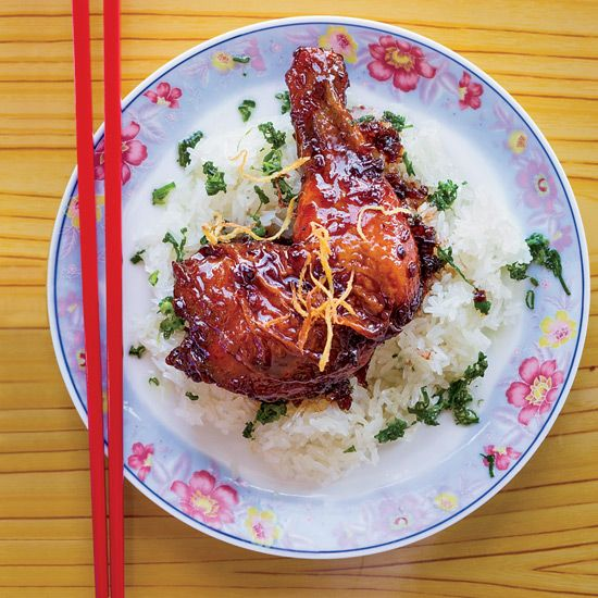 Caramelized Ginger Chicken with Sticky Rice #foodandwine
