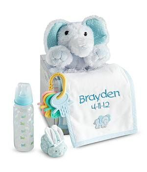 Amazon.com: Personalized Baby Gift Set - Blue - New Baby Gift: Baby