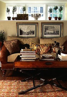 English Country - love the coffee table and sofa:)
