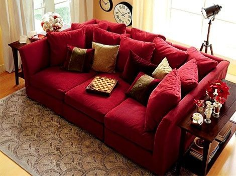 I LOVE a nice deep couch! Perfect for so many things