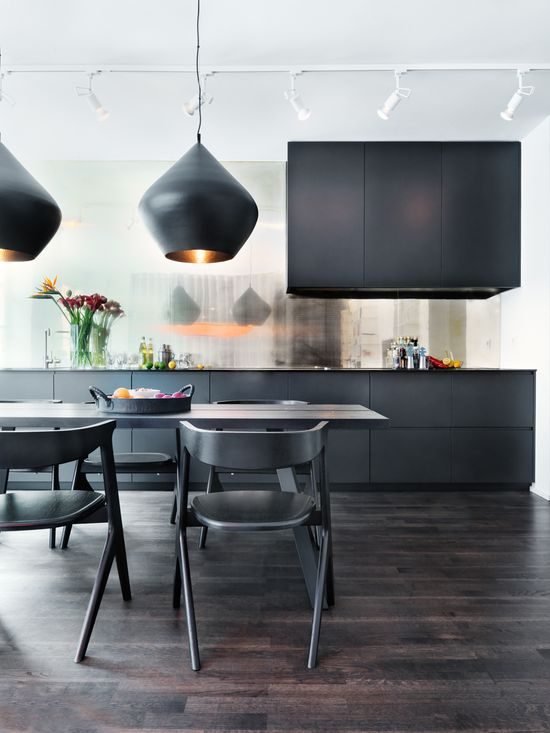 "Image source: Masculine kitchen design ~ ""Living well while doing good"""