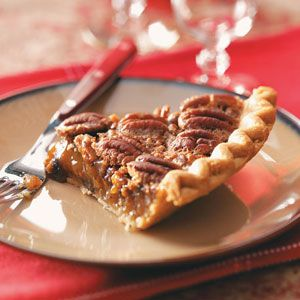 Top 10 Pecan Pies from Taste of Home. A Thanksgiving favorite, these top-rated pecan pies are the perfect ending to a holiday meal. Find our best recipes for pumpkin pecan pie, apple pecan pie, peach pecan pie and more!