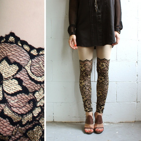 Faux Lace Thigh Highs