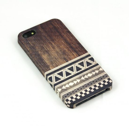 Wood Print Geometric Unique iPhone Case ,  iPhone 5 Case , Aztec Pattern iphone case , iPhone 4 Case , Plastic iPhone 4s case on Etsy, $22.00