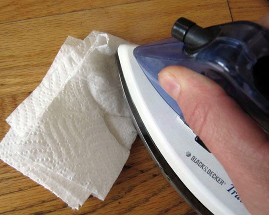 How to remove dents from wood, including hardwood floors. #goodtoknow