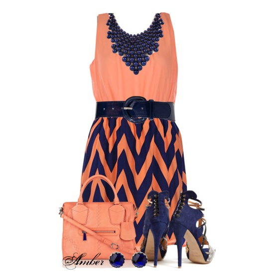 Chevron Dress by stay-at-home-mom on Polyvore