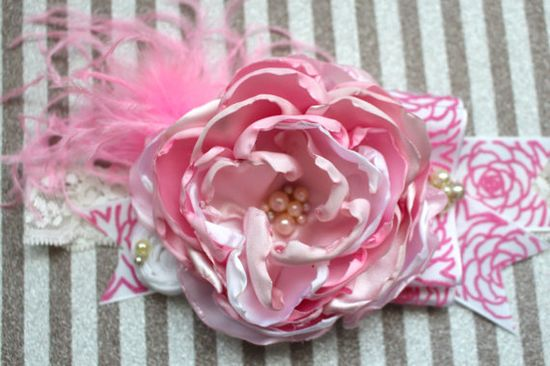 All About Pink Headband Baby Hair Accessory by AldonasBoutique,