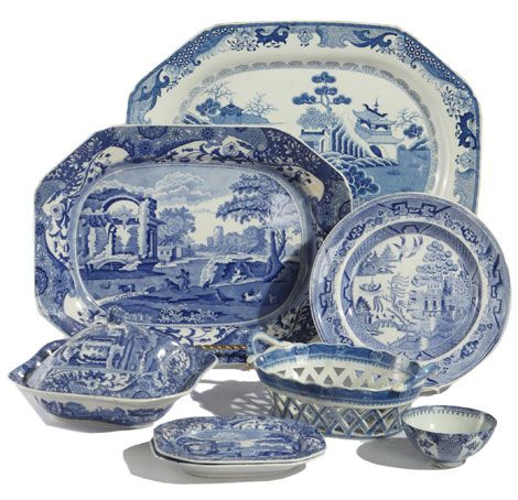 Blue and White Antique Porcelain