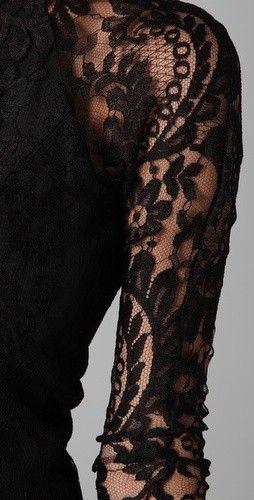 #black  #dress  #details  #lace