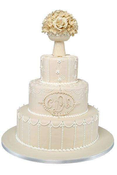 Indian Weddings Inspirations. White wedding cake. Repinned by #indianweddingsmag indianweddingsmag...