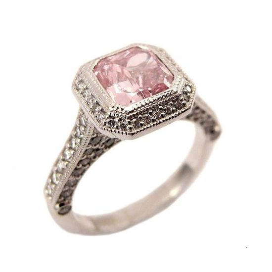 Antique Style Pink Diamond Ring
