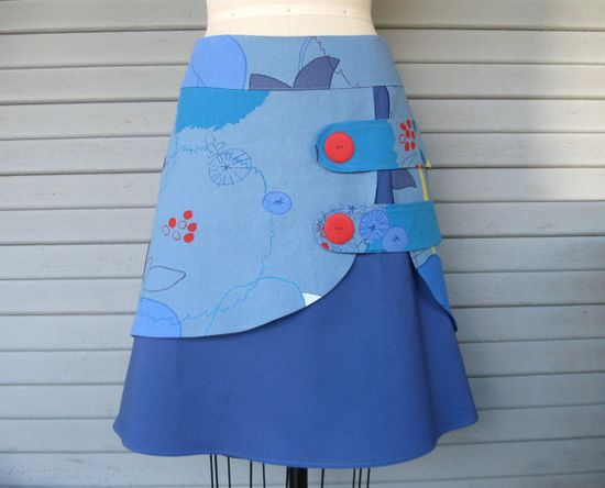 Sketchbook double layer skirt Sz 14 on Etsy
