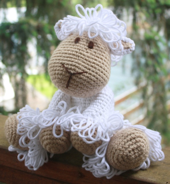 Crochet Lamb Stuffed Animal by SistersBoutique2 on Etsy