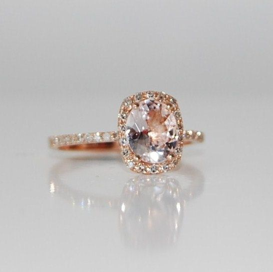 Rose Gold Champagne Sapphire engagement ring